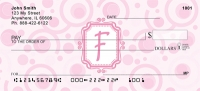 Click on Bubbly Monogram F Personal Checks For More Details