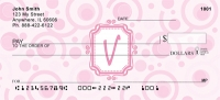 Click on Bubbly Monogram V Personal Checks For More Details