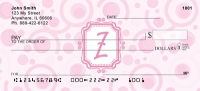 Click on Bubbly Monogram Z Personal Checks For More Details