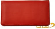 Click on Red Smooth Leather Cover For More Details