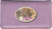 Click on Cute Kittens Leather Side Tear Style Checkbook Cover For More Details