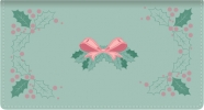 Click on Holiday Holly Fabric Side Tear Checkbook Cover For More Details