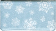 Click on Snowflake Fabric Side-tear Checkbook Cover For More Details