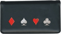 Click on Poker Night Leather Checkbook Cover For More Details