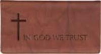 Click on In God We Trust Leather Checkbook Cover For More Details