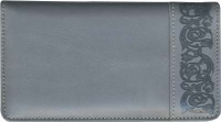 Click on Premium Gray Leather Checkbook Cover For More Details