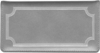 Click on Platinum Gray Leather Checkbook Cover For More Details