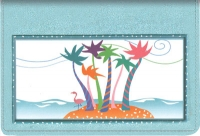 Click on Tropical Moods Top Stub Checkbook Cover For More Details