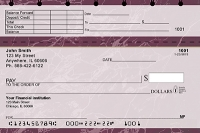 Click on Burgundy Marble Top Stub Personal Checks For More Details