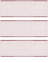 Click on Burgundy Safety Blank High Security 3 Per Page Laser Checks For More Details