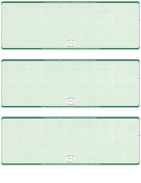 Click on Green Safety Blank High Security 3 Per Page Laser Checks For More Details