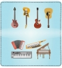 Click on Musical Instruments Leather Checkbook Cover For More Details