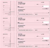 Click on Deskset Style 2 Pink Safety Personal Checks For More Details