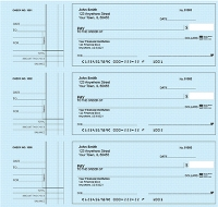 Click on Deskset Style 2 Blue Safety Personal Checks For More Details
