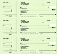 Click on Deskset Style 2 Green Safety Personal Checks For More Details