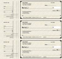 Click on Deskset Style 2 Parchment Personal Checks For More Details