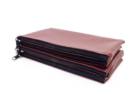 Click on Burgundy Zipper Bank Bag 5.5 X 10.5 For More Details