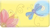 Click on Garden Dragonflies Leather Checkbook Cover For More Details