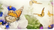 Click on Spring Time Butterflies Leather Checkbook Cover For More Details