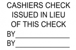 Click on Issued Cashier's Check Stamp For More Details