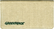 Click on Greenpeace Hemp Checkbook Cover For More Details