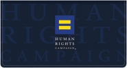 Click on Human Rights Campaign Fabric Checkbook Cover For More Details