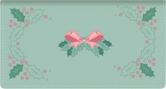 Click on Holiday Holly Fabric Wallet Style Checkbook Cover For More Details