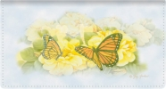 Click on Butterfly Blooms Leather Wallet Style Checkbook Cover For More Details