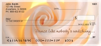 Dance Like Nobody's Watching Rose Personal Personal Checks
