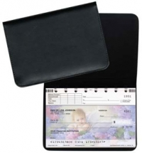 Click on Black Leather Top Stub Checkbook Cover For More Details