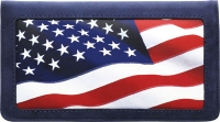 Click on Stars and Stripes Leather Checkbook Cover For More Details