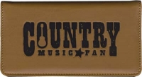 Click on Country Music Leather Checkbook Cover For More Details