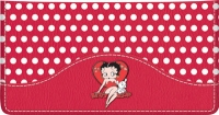 Click on Betty Boop Charm Leather Checkbook Cover For More Details