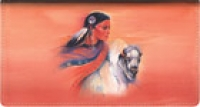 Click on American Indians Leather Checkbook Cover For More Details