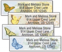 Click on Butterfly Blooms Address Labels For More Details