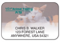 Click on PETA Stop Animal Testing Address Labels For More Details