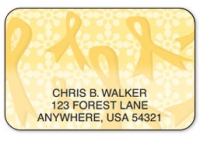 Click on Gold Ribbons of Support Address Labels For More Details